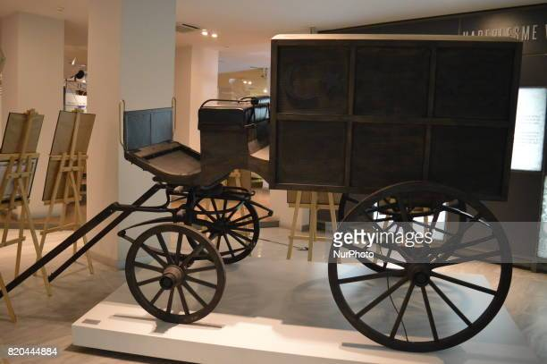 A historic carriage is seen at the PTT Stamp Museum in Ankara Turkey on July 21 2017