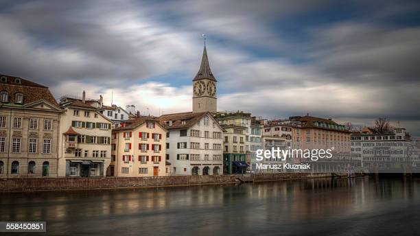 Historic centre of Zurich and Limmat river