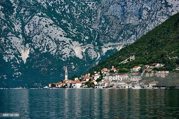 Historic city of Perast Bay of Kotor