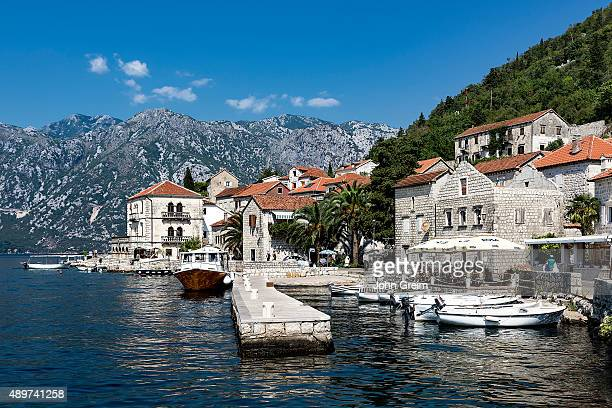 Historic city of Perast Bay of Kotor