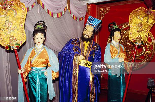 Historic figures represented in the Sung Dynasty Village wax museum in Kowloon