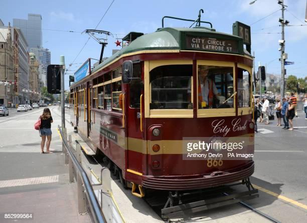 A historic free tram in Melbourne Australia