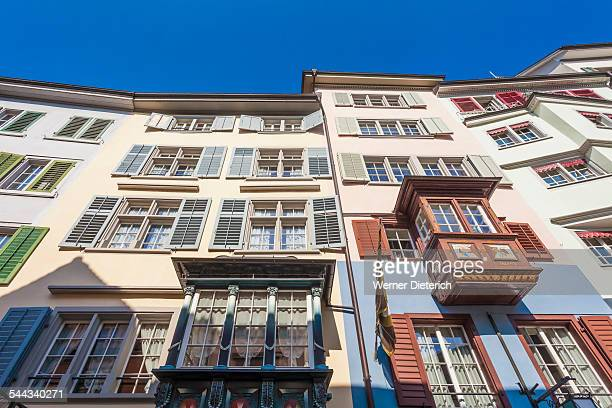 Historic guild houses  at Augustinergasse, Zurich