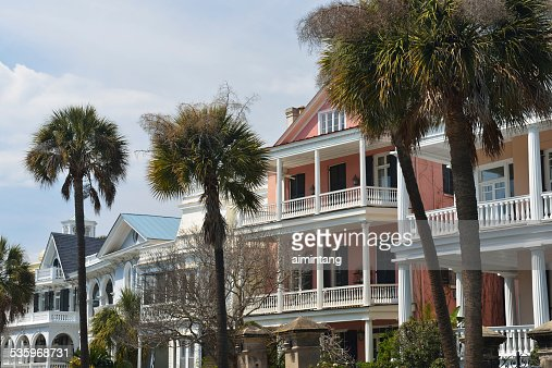 Historic Houses in Charleston of South Carolina : Stock Photo