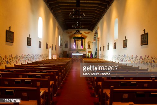 Historic Mission Interior : Stock Photo