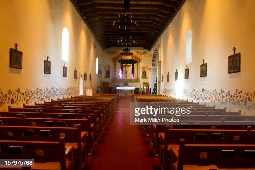 Historic Mission Interior : Stock Photo