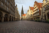 historic prinzipalmarkt in muenster germany