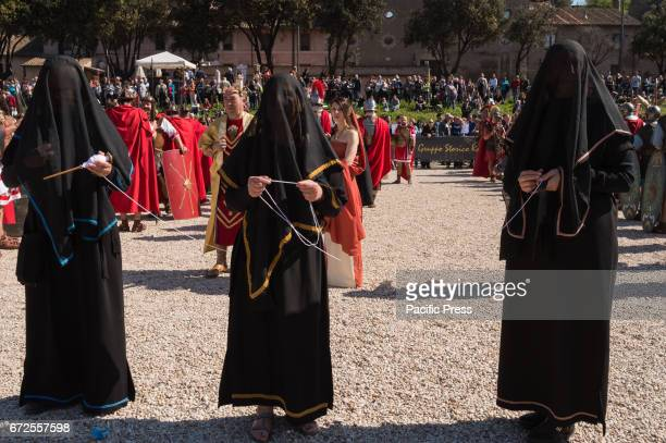 A historic procession took place from the Circus Maximus to the Imperial Forum where a crown was placed at the foot of the statue of the Emperor...