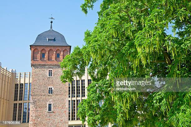 Historic Red Tower of city Chemnitz/Germany