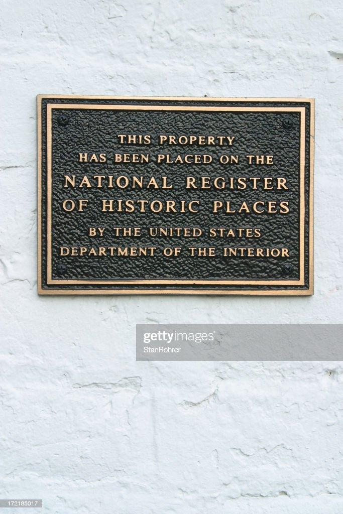 Historic Register Plaque