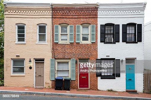 Historic row houses in Washington DC