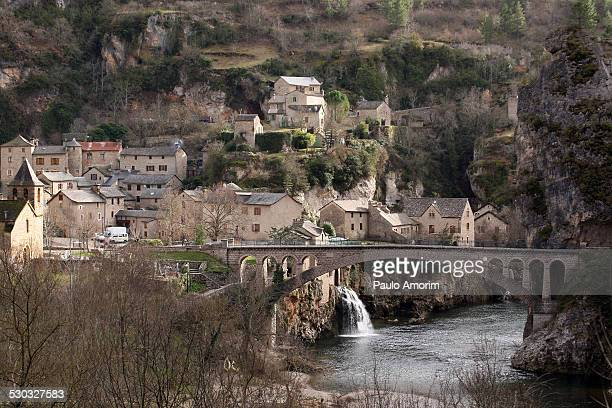 Historic Village at mountain south of France