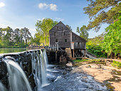 Historic 18th century grist mill near Raleigh, NC.