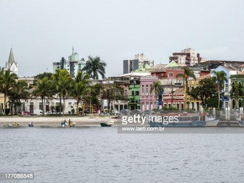 Historical Buildings in Paranagua, Brazil
