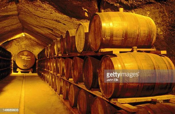 Historical cellar at Buena Vista winery.