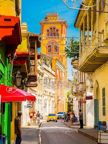 コロンビアの歴史地区にあるカルタへナ