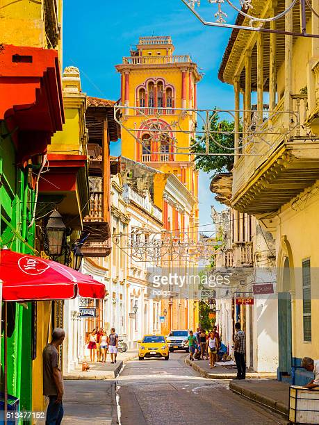 Historical district in Cartagena, Colombia