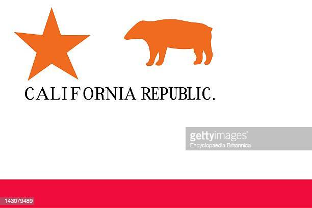 Historical Flag Of The United States Of America When American Settlers In California Organized The California Republic June 14 They Adopted This Flag