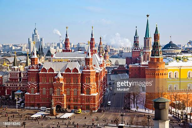 Historical Museum, Red Square and Kremlin in Moscow