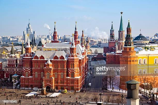 Historisches Museum, dem Roten Platz und dem Kreml in Moskau