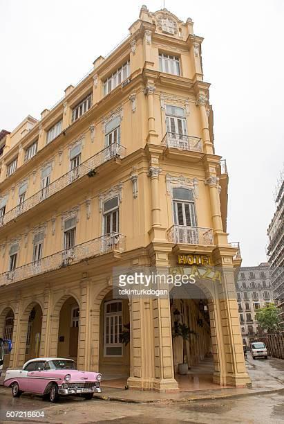 historical old hotel plaza building at havana cuba