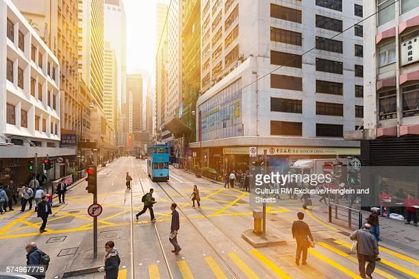 Historical tram, Central Hong Kong