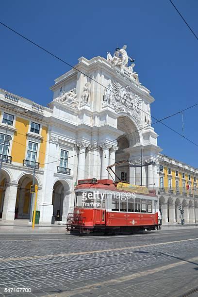 Historical tram in Lisbon