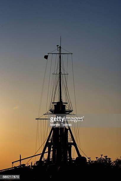 Historical warship silhouette