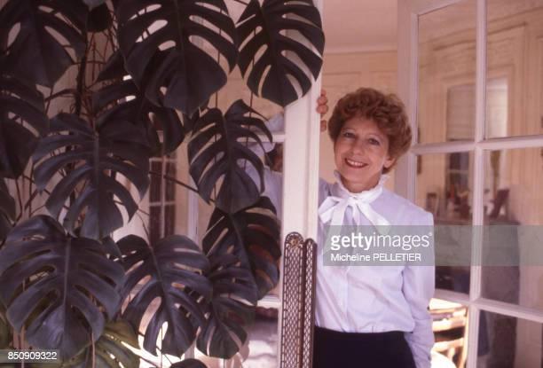 L'historienne et femme politique française Hélène Carrère d'Encausse à Paris le 15 octobre 1983 France