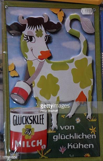 Historisches Schild 'Glücksklee Milch' Schnoorviertel Bremen Deutschland Europa Kuh Schnoor Reise