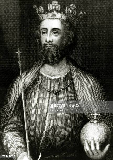 History Illustrations English Royalty pic circa 1200This illustration shows King Edward II who reigned in England 13071327
