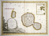 History of Exploration 18th century Polynesia Tahiti Island and the Marquesas Islands Engraving based upon the maps drawn by James Cook