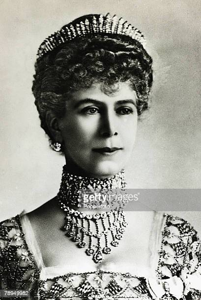 History Personalities British Royalty pic 1920 HMQueen Mary portrait Queen Mary born Mary of Teck became Queen Consort when her husband King George V...