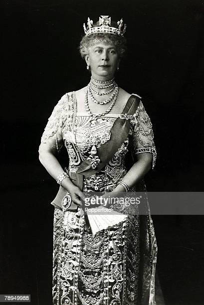 History Personalities British Royalty pic 1923 HMQueen Mary portrait Queen Mary born Mary of Teck became Queen Consort when her husband King George V...