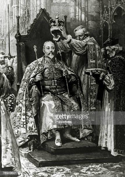 History Personalities British Royalty pic 9th August 1902 King Edward VII's Coronation in Westminster Abbey King Edward VII who succeeded his mother...