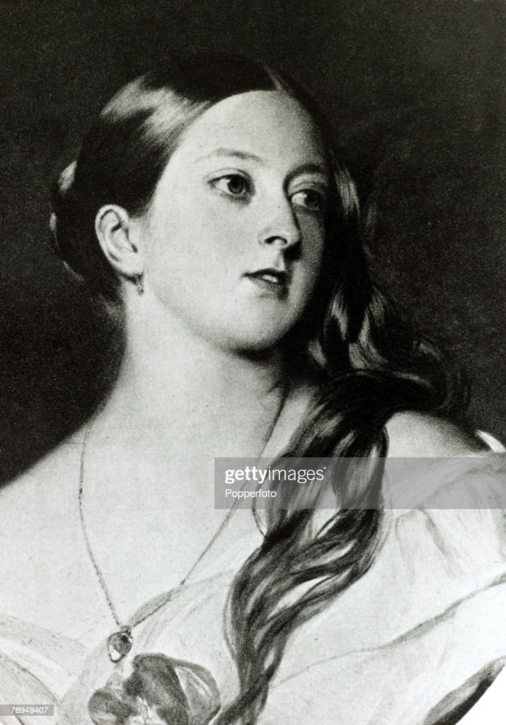 History Personalities British Royalty pic circa 1840s Queen Victoria pictured as the young Queen Queen Victoria who reigned from 18371901 who during...