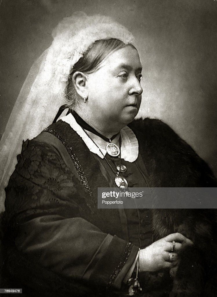 History Personalities British Royalty pic circa 1860's Queen Victoriaportrait Queen Victoria who reigned from 18371901 who during her reign saw Great...
