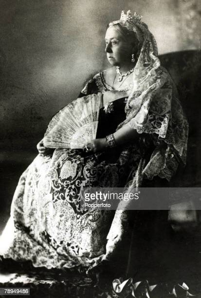 History Personalities British Royalty pic circa 1880's Queen Victoria portrait Queen Victoria who reigned from 18371901 who during her reign saw...