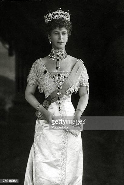History Personalities British Royalty pic circa 1912 HMQueen Mary portrait Queen Mary born Mary of Teck became Queen Consort when her husband King...