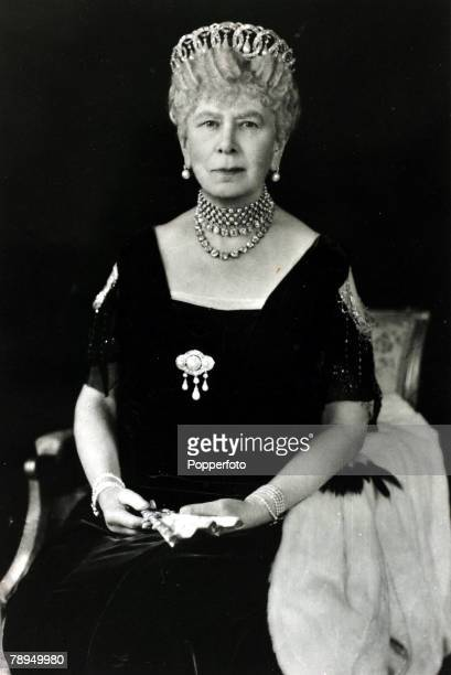 History Personalities British Royalty pic circa 1930's HMQueen Mary portrait Queen Mary born Mary of Teck became Queen Consort when her husband King...