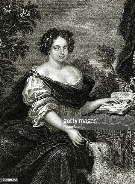 History Personalities English Royalty pic circa 1660's This illustration shows Catherine of Braganza the Queen Consort of King Charles II who reigned...