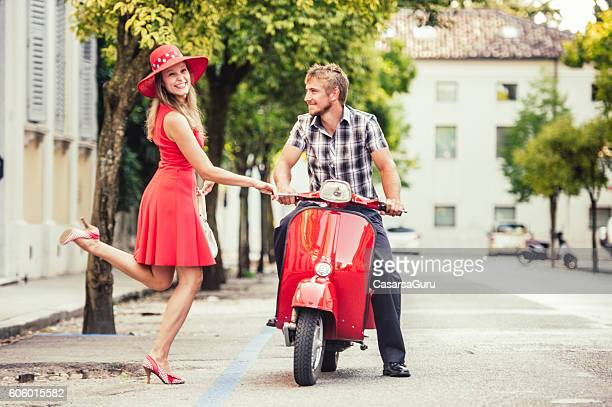 Hitchhiking for a Scooter Ride
