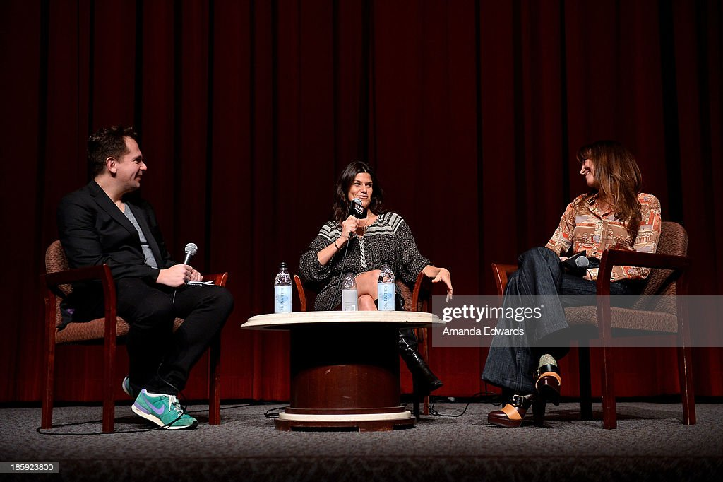 HitFix.com Co-Founder and Editor-In-Chief Gregory Ellwood and producers Robbie Brenner and Rachel Winter attend the Film Independent Forum Screening and Q&A of 'Dallas Buyers Club' at the DGA Theater on October 25, 2013 in Los Angeles, California.