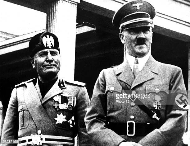 Hitler and Mussolini 20th century Italy Germany