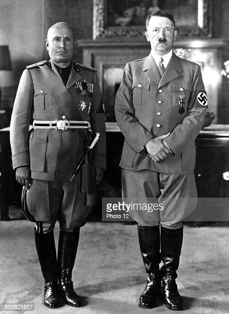 Hitler's visit in Italy Hitler and Mussolini in Rome on May 4 1938