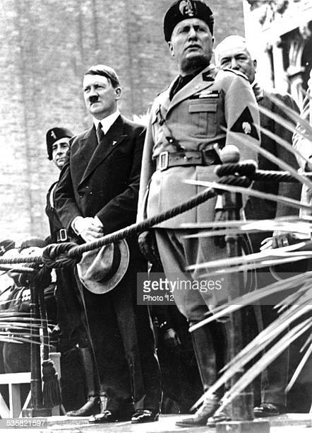 Hitler's visit in Italy Hitler and Mussolini in Venice Italy