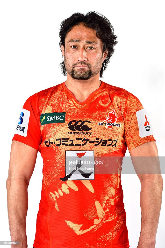 <a gi-track='captionPersonalityLinkClicked' href=/galleries/search?phrase=Hitoshi+Ono&family=editorial&specificpeople=4036660 ng-click='$event.stopPropagation()'>Hitoshi Ono</a> poses during the Sunwolves 2016 Super Rugby headshots session on February 11, 2016 in Tokyo, Japan.
