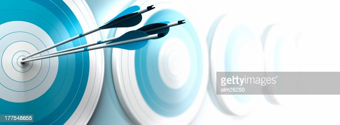 hitting objectives, business strategy : Stock Photo