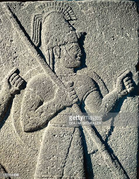 Hittite civilization 9th8th century bC Slab with relief depicting a Hittite warrior From Carchemish Turkey