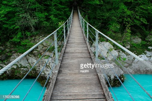 Hängebrücke : Stock Photo